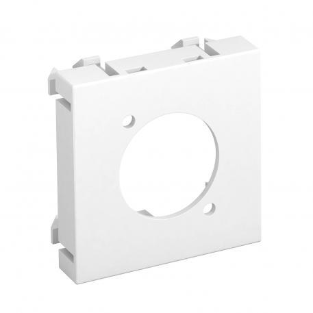 Multimediaträger für XLR Steckverbinder, 1 Modul, Auslass gerade