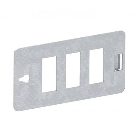 CP-Trägerplatte, für 3 Snap-In Steckverbinder 3-polig