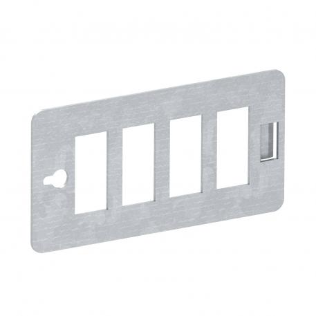 CP-Trägerplatte, für 4 Snap-In Steckverbinder 3-polig