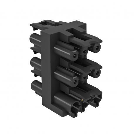 Verteilerblock 3-polig, 1 Eingang / 5 Ausgänge