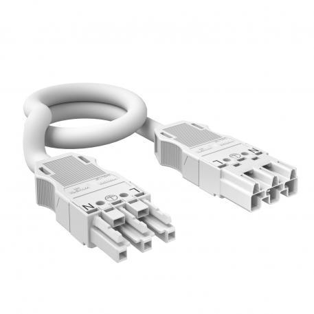 Verbindungsleitung 3-adrig, halogenfrei, Querschnitt 2,5 mm², weiß