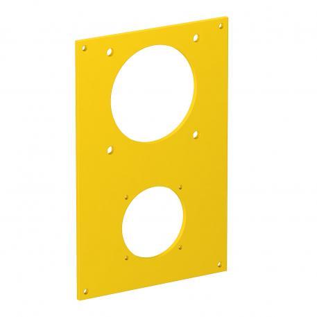 Abdeckplatte VHF, für 1 x Anbausteckdose Typ ASD und 1 x CEE Steckvorrichtung