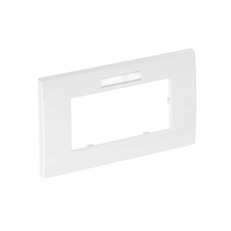 Abdeckrahmen AR45, 2fach, mit Beschriftungsfeld für waagerechte Geräteinstallation