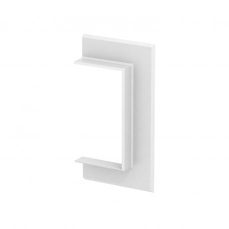 Wandabschlussblende PVC offen 70130 reinweiß; RAL 9010 | 198 mm | 104 mm