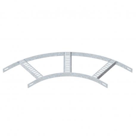 90°-Bogen mit Trapez-Sprosse, leicht FT