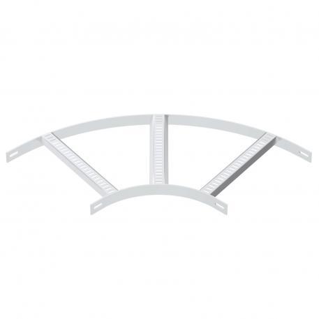 90°-Bogen mit Trapez-Sprosse ALU