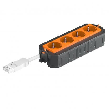 UTC4 W mit 4 Schutzkontakt-Steckdosen, orange