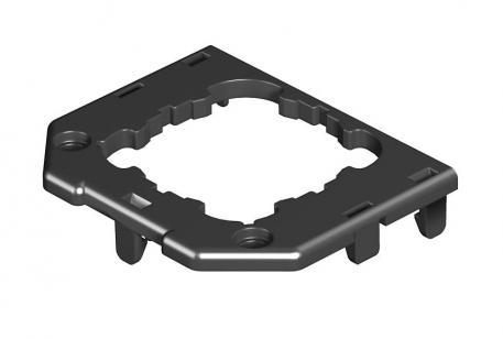 Abdeckplatte für Gerätebecher GB2, runde Einbauöffnung für EK-Gerät