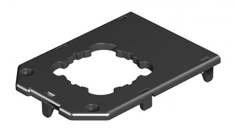 Abdeckplatte für Gerätebecher GB2, runde Einbauöffnung für EKR-Gerät