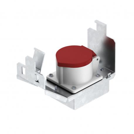 Geräteträger für CEE-Einbau, Systemlänge 165 mm, mit CEE
