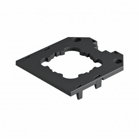 Abdeckplatte für Universalträger UT3, runde Einbauöffnung für EKR-Gerät