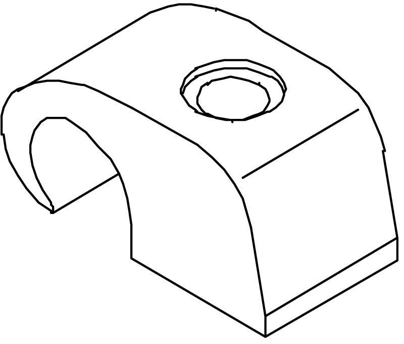 OBO Haft-Clips 4040 2215314 für Kabel 7-12mm lichtgrau *100 St.* Ohne Nägel*
